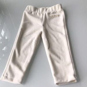 Juicy couture cream velvet pants